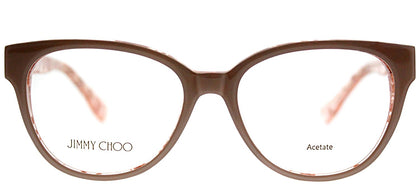 Jimmy Choo JC 141 J42 Nude Spotted Cat-Eye Plastic Eyeglasses