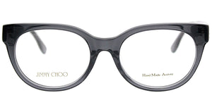 Jimmy Choo Asian Fit JC 143F J8E Crystal Grey Round Plastic Eyeglasses