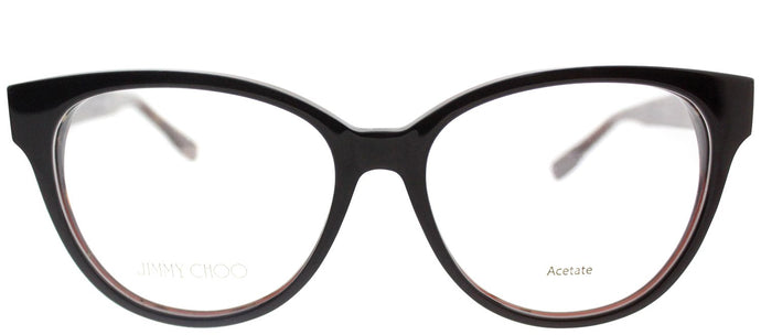 Jimmy Choo Asian Fit JC 145F J3P Brown Spotted Cat-Eye Plastic Eyeglasses