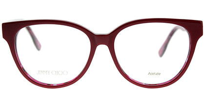 Jimmy Choo Asian Fit JC 145F J4Q Cherry Red Spotted Cat-Eye Plastic Eyeglasses