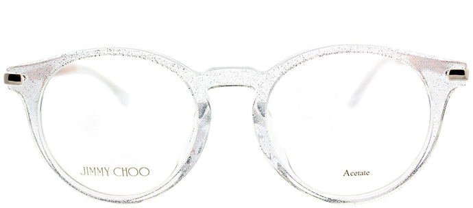Jimmy Choo JC 152 QBT Grey Crystal Round Plastic Eyeglasses