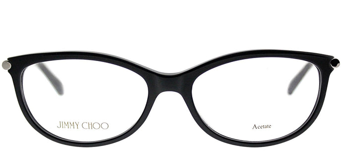 Jimmy Choo JC 154 SBF Black Cat-Eye Plastic Eyeglasses