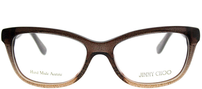 Jimmy Choo JC 87 2PI Brown Glitter Brown Rectangle Plastic Eyeglasses