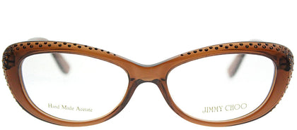 Jimmy Choo JC 89 LRL Brown Cat-Eye Plastic Eyeglasses