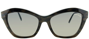 Roberto Cavalli Alamak RC 796S 05B Black Brown Leopard Cat-Eye Plastic Sunglasses