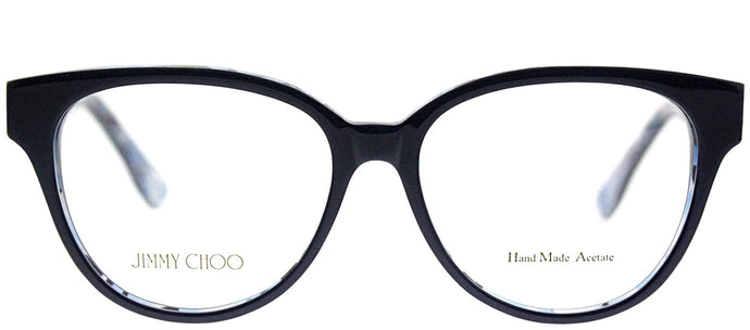 Jimmy Choo Asian Fit JC 145F J55 Blue Crystal Blue Cat-Eye Plastic Eyeglasses
