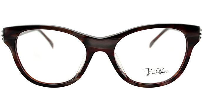 Emilio Pucci EP 2677 615 Berry Striated Rectangle Plastic Eyeglasses