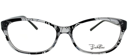 Emilio Pucci EP 2716 035 Transparent Grey Print Rectangle Plastic Eyeglasses