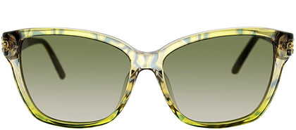 Emilio Pucci EP 716S 250 Labirinth On Faded Khaki Rectangle Plastic Sunglasses