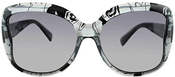 Emilio Pucci EP 739S 35 Grey Pucci Print Rectangle Plastic Sunglasses