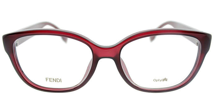 Fendi Asian Fit FF 0068/F MKG Brown Opal Rectangle Plastic Eyeglasses