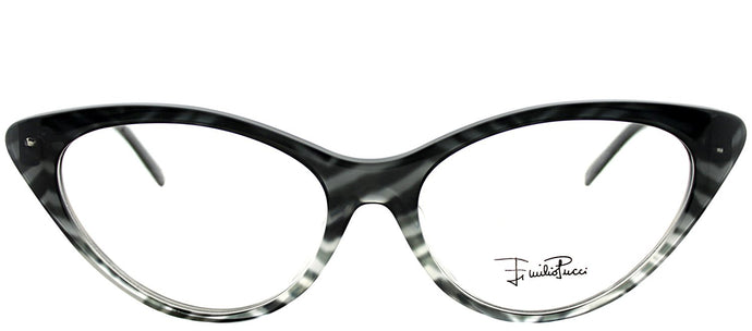 Emilio Pucci EP 2671 006 Zebra on Faded Grey Cat-Eye Plastic Eyeglasses