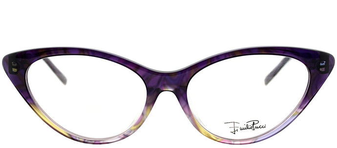 Emilio Pucci EP 2671 504 Ribbon Purple Cat-Eye Plastic Eyeglasses