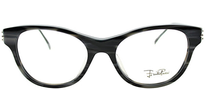 Emilio Pucci EP 2677 027 Striped Pearly Grey Rectangle Plastic Eyeglasses