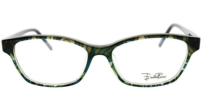 Emilio Pucci EP 2689 341 Green Rectangle Plastic Eyeglasses