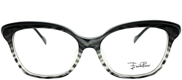 Emilio Pucci EP 2697 006 Zebra On Faded Grey Rectangle Plastic Eyeglasses