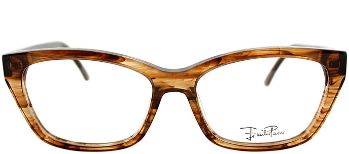 Emilio Pucci EP 2710 265 Striped Brown Rectangle Plastic Eyeglasses