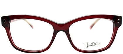 Emilio Pucci EP 2717 604 Burgundy Rectangle Plastic Eyeglasses