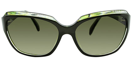 Emilio Pucci EP 686S 303 Dark Green Rectangle Plastic Sunglasses