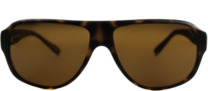 Armani Exchange AX 4005 Aviator Plastic Sunglasses - Matte Havana with Brown Lens