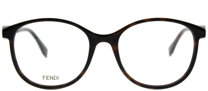 Fendi F Is Fendi FF 0299 086 Dark Havana Round Plastic Eyeglasses
