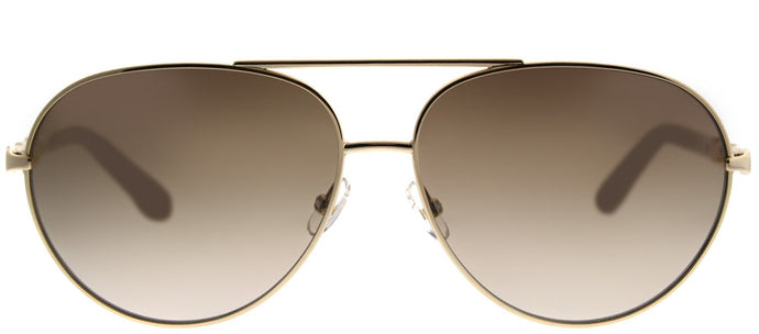 Juicy Couture 582/S J7F CC Gold Ivory Aviator Metal Sunglasses