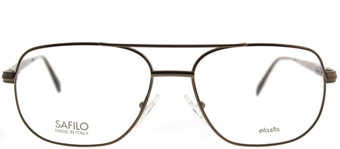Elasta Elasta 7126 9HM Brown Aviator Metal Eyeglasses