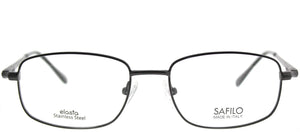 Elasta Elasta 7193N JVX Grey Pewter Rectangle Metal Eyeglasses