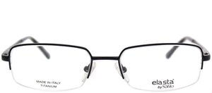 Elasta Elasta 7210 003 Black Semi-Rimless Metal Eyeglasses