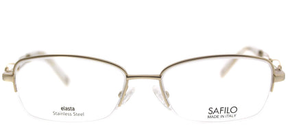 Emozioni Emozioni 4351 EY7 Gold Semi-Rimless Metal Eyeglasses