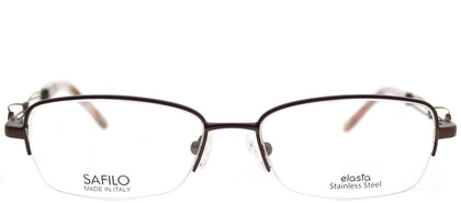 Emozioni Emozioni 4351 FH5 Chocolate Semi-Rimless Metal Eyeglasses