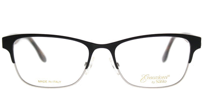 Emozioni Emozioni 4371 WR7 Black Rectangle Metal Eyeglasses