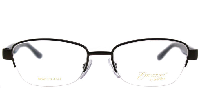 Emozioni Emozioni 4373 HGC Brown Havana Blue Semi-Rimless Metal Eyeglasses