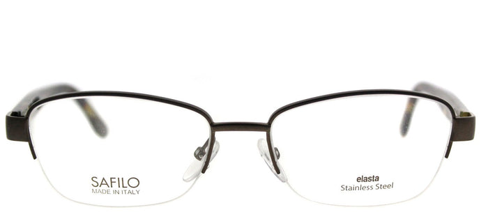 Emozioni Emozioni 4373 WR9 Brown Havana Semi-Rimless Metal Eyeglasses