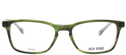 Jack Spade JS Graham EF1 Striated Olive Rectangle Plastic Eyeglasses