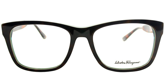 Salvatore Ferragamo SF 2693 220 Torotise Green Rectangle Plastic Eyeglasses