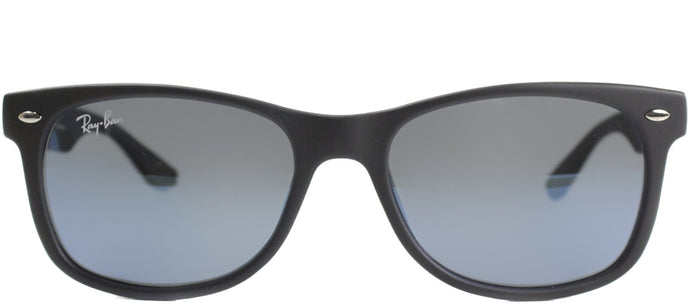 Ray-Ban Jr RJ 9052 Wayfarer Plastic Sunglasses - Matte Black with Blue Mirror Lens