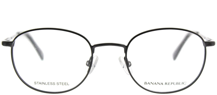 Banana Republic Dane JVX Brushed Graphit Round Metal Eyeglasses