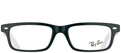 Ray-Ban Junior RY 1535 3579 Black On White Rectangle Plastic Eyeglasses