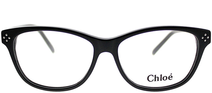 Chloe CE 2633 001 Black Rectangle Plastic Eyeglasses