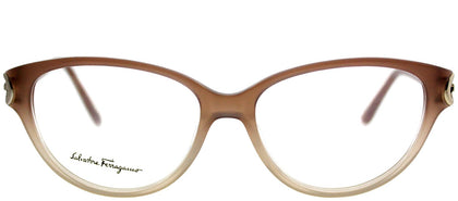 Salvatore Ferragamo SF 2735 267 Gradient Beige Cat-Eye Plastic Eyeglasses