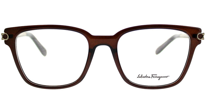 Salvatore Ferragamo SF 2773 210 Brown Square Plastic Eyeglasses