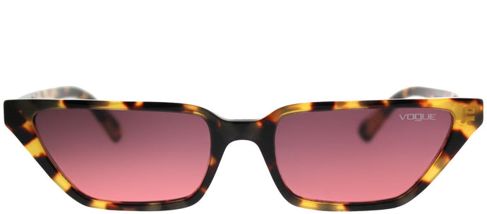 Vogue Eyewear Gigi Hadid For Vogue VO 5235S 260520 Brown Yellow Tortoise Cat-Eye Plastic Sunglasses