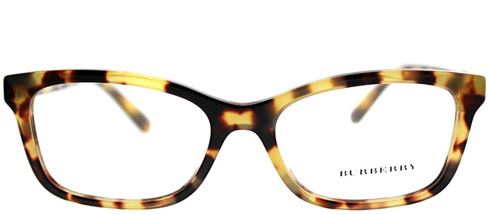 Burberry BE 2249 3278 Light Havana Rectangle Plastic Eyeglasses