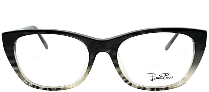 Emilio Pucci EP 2670 037 Zebra on Faded Grey Cat-Eye Plastic Eyeglasses
