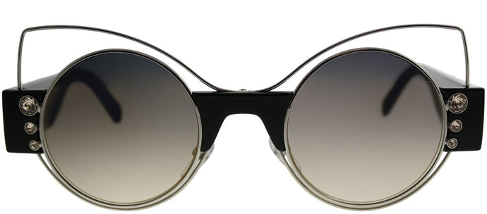 Marc Jacobs MARC 1/S U4T Silver Black Cat-Eye Metal Sunglasses
