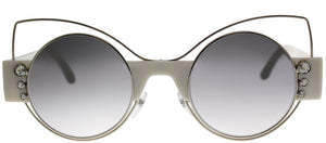 Marc Jacobs MARC 1/S U4X Silver Ivory Cat-Eye Metal Sunglasses