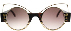 Marc Jacobs MARC 1/S VJY Gold Tortoise Cat-Eye Metal Sunglasses