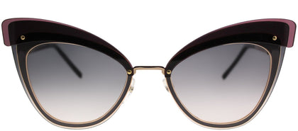 Marc Jacobs MARC 100/S DDB 9C Gold Copper Cat-Eye Metal Sunglasses