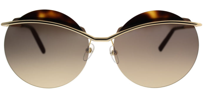 Marc Jacobs MARC 102/S J5G GG Gold Havana Round Metal Sunglasses